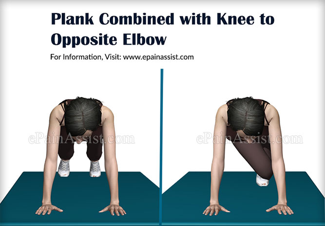 Plank Combined with Knee to Opposite Elbow Exercises for Weight Loss