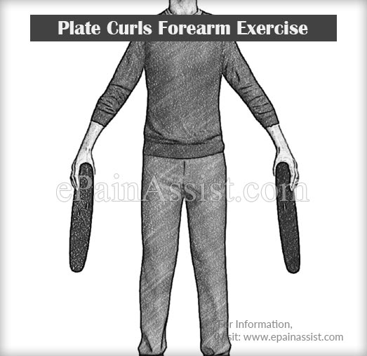 Plate Curls Forearm Exercise