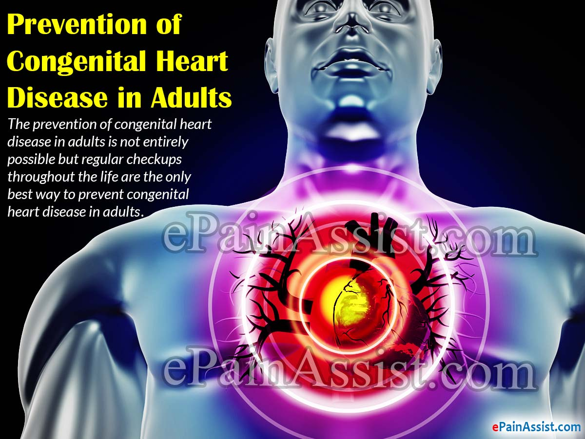 Prevention of Congenital Heart Disease in Adults