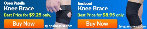 Open Patella and Enclosed Knee Brace