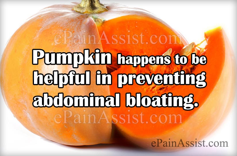 Pumpkin-To Prevent Abdominal Bloating