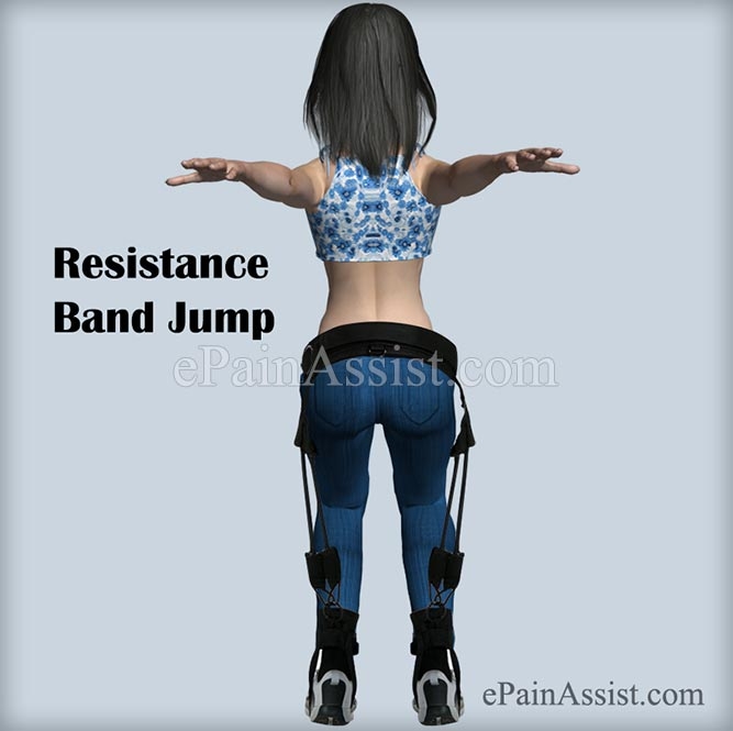 Resistance Band Jump Exercise For Ankle Joint Ligament Injury!