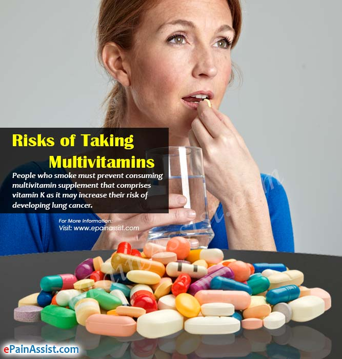Risks of Taking Multivitamins