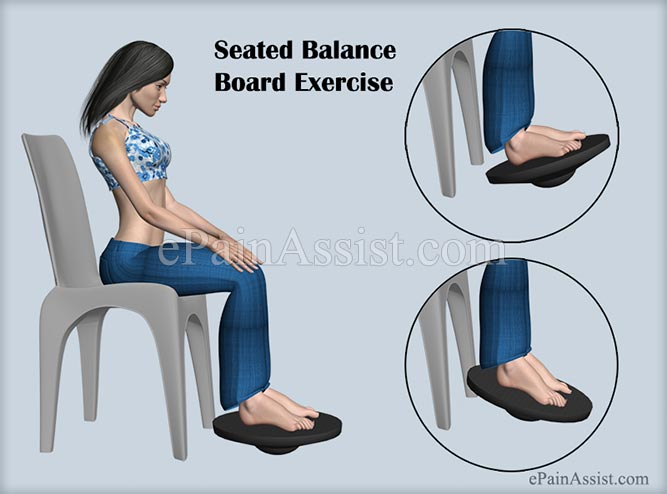 Seated Balance Board Exercise For Early Recovery From Ankle Joint Ligament Injury