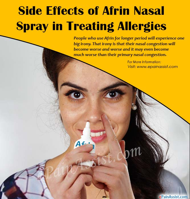 Side Effects of Afrin Nasal Spray in Treating Allergies