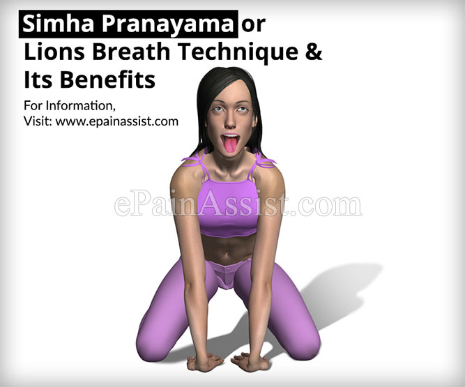 Simha Pranayama or Lions Breath Technique & Its Benefits
