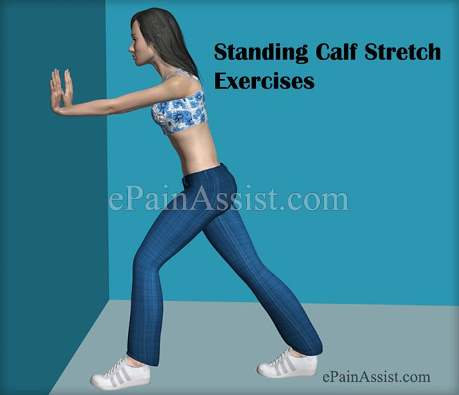 Standing Calf Stretch Exercise For Ankle Joint Ligament Injury!