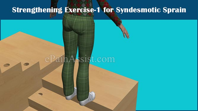 Strengthening Exercise #1 for Syndesmotic Sprain or Syndesmotic Ankle Sprain