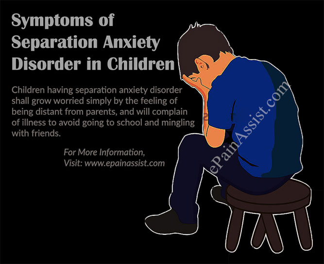 Symptoms or Indications of Separation Anxiety Disorder in Children