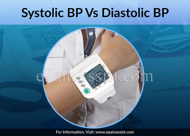 Systolic BP Vs Diastolic BP