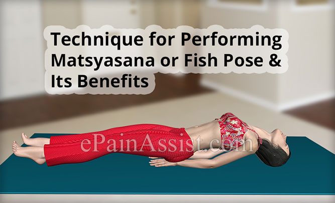 Technique For Performing Matsyasana