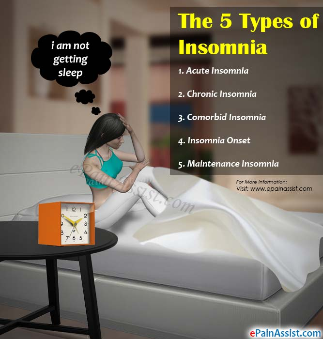 an overview of the different types of insomnia Three types of insomnia and 11 specific  child insomnia: overview  leesa is a leading bed-in-a-box retailer that offers two different mattress models in.