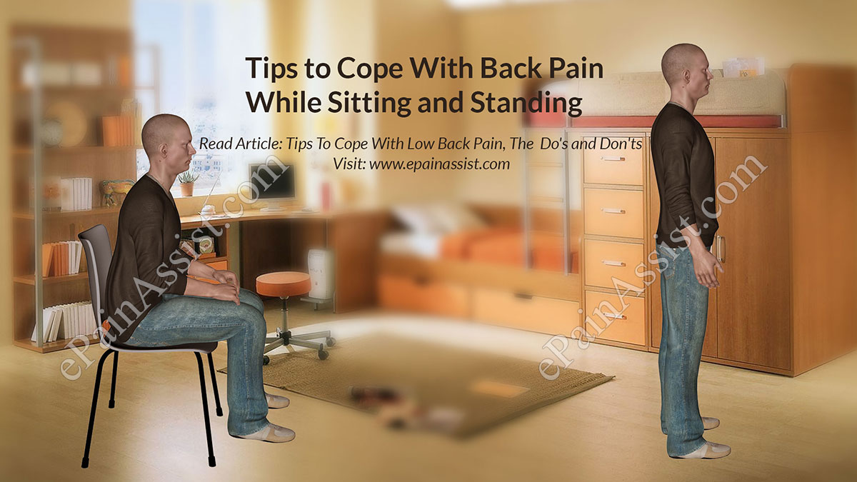 Tips To Cope With Back Pain While Sitting Standing