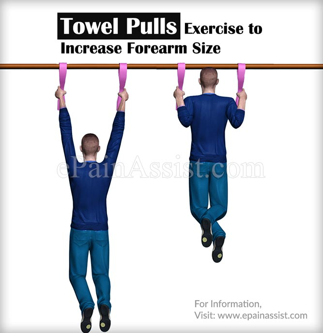 Towel Pulls Exercise to Increase Forearm Size