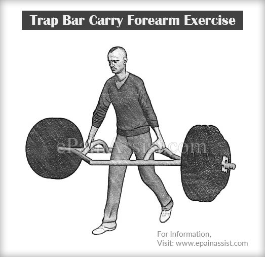 Trap Bar Carry Forearm Exercise