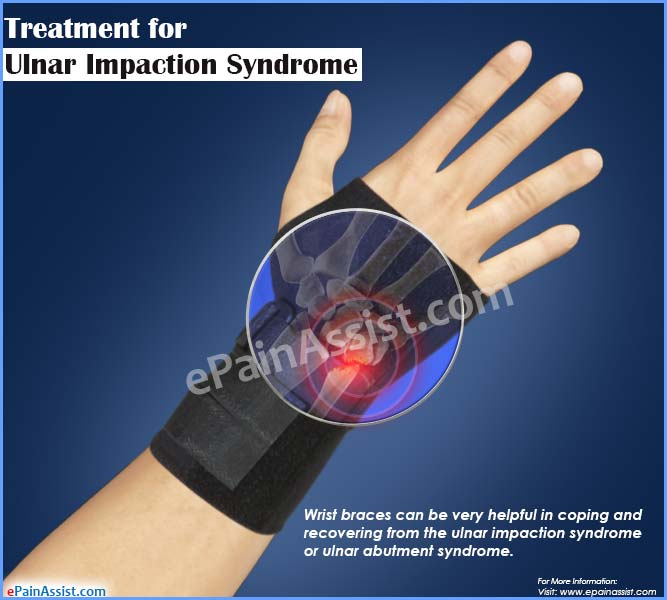 treatment for ulnar impaction syndrome or ulnar abutment