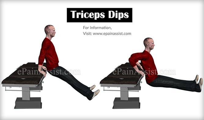 Triceps Dips Workout for Arms Without Weights