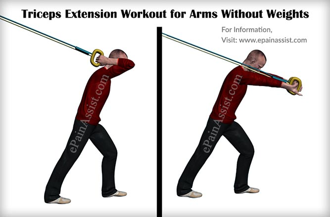 Triceps Extension Workout for Arms Without Weights