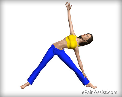 Trikonasana or Triangle Pose for a Knee Sprain