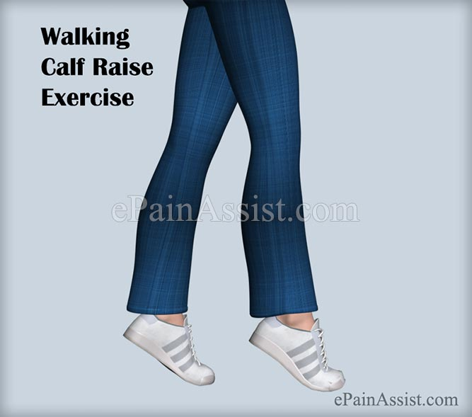 Walking Calf Raise Exercise For Ankle Joint Ligament Injury!