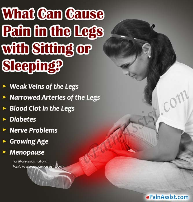 What Can Cause Pain in the Legs with Sitting or Sleeping?