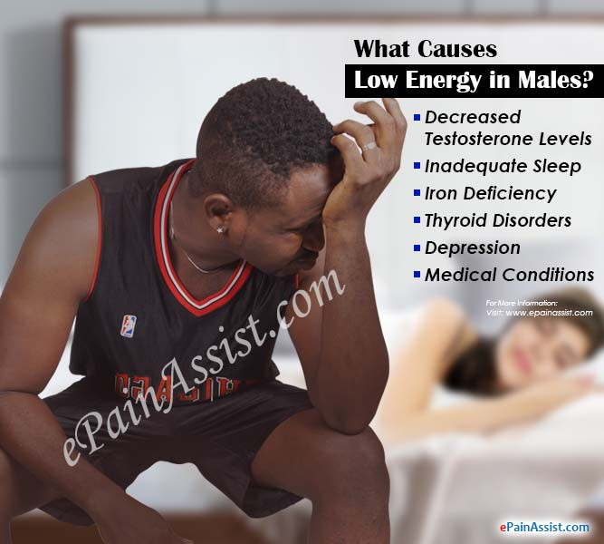 What Causes Low Energy in Males?