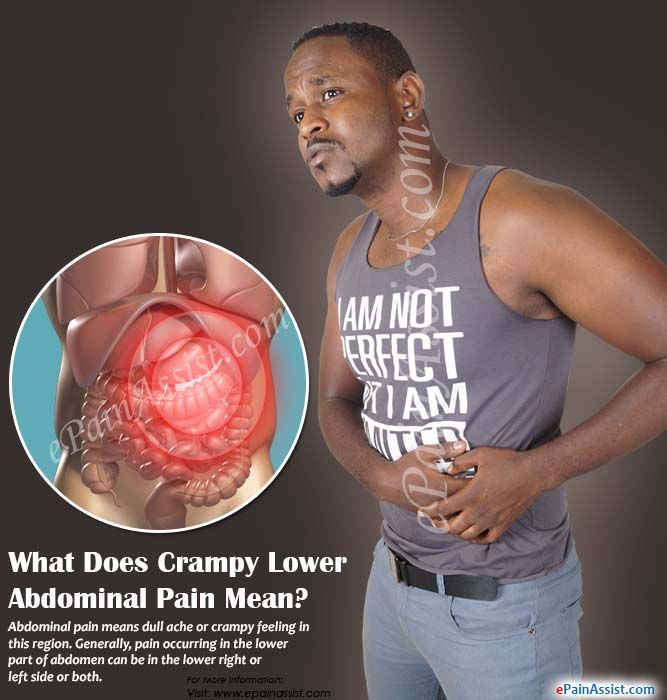 What Does Crampy Lower Abdominal Pain Mean?