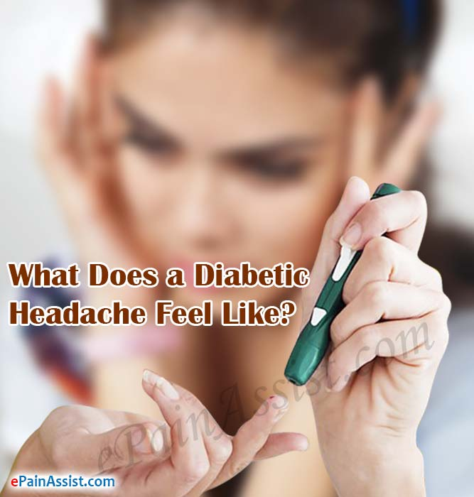 What Does A Diabetic Headache Feel Like