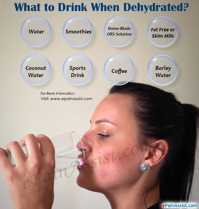 What to Drink When Dehydrated?