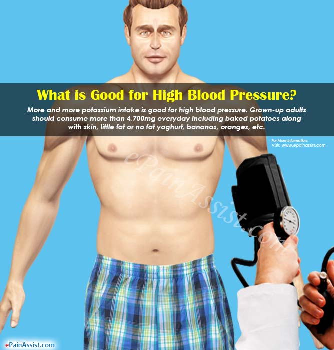 What is Good for High Blood Pressure?