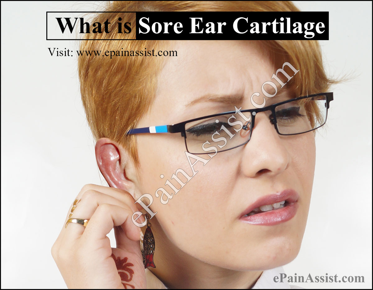 Sore Ear Cartilage or Auricular Chondritis