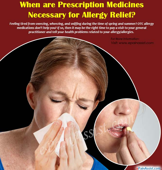 When are Prescription Medicines Necessary for Allergy Relief?