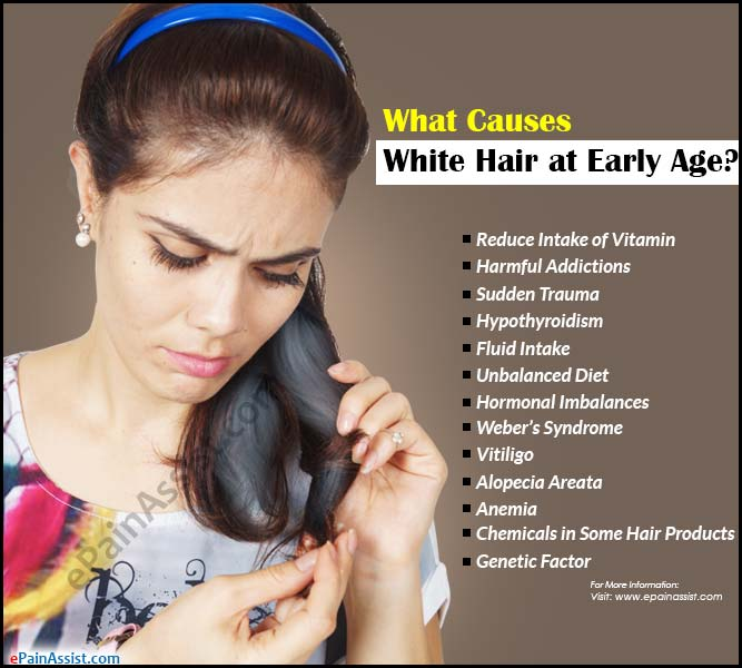 What Causes White Hair At Early Age Remedies For It