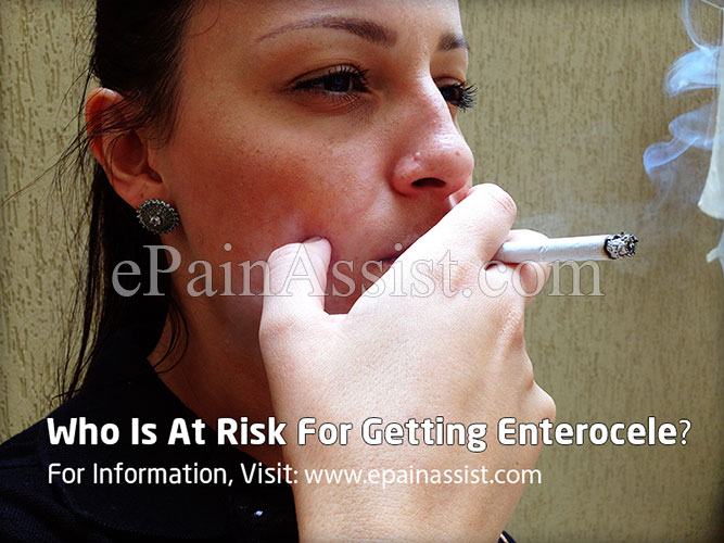 Who Is At Risk For Getting Enterocele?