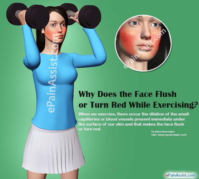 Why Does the Face Flush or Turn Red While Exercising?